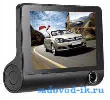 Автомобильный видеорегистратор с тремя камерами Video Cardvr