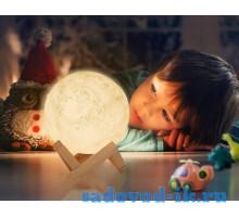"3D светильник-Ночник ""Луна"" 3DTOYSLAMP"