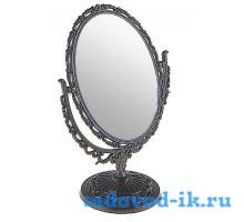 Зеркало ажурное двухстороннее овальное с увеличением (11х16)