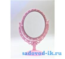 Зеркало ажурное круглое двухстороннее с увеличением (12,5 см)