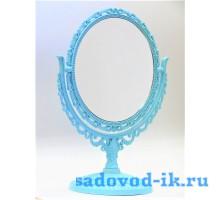 Зеркало ажурное овальное двухстороннее с увеличением (10,5х15 см)
