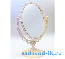 Зеркало ажурное двухстороннее овальное с увеличением (8,5х11,5 см)