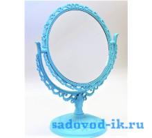 Зеркало ажурное двухстороннее круглое с увеличением (15 см)