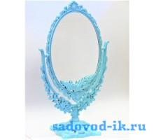Зеркало ажурное двухстороннее овальное с увеличением (15,5х22 см)