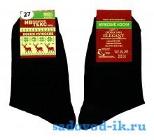 Мужские носки ВУ ИвТекс арт.1737 хлопок чёрные гладкие