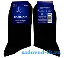Мужские носки ВУ Camelon SM009 хлопок чёрные гладкие
