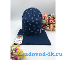 "Комплект шапка+снуд детский ""Яхта"""