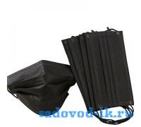 Маска медицинская черная (упаковка 50 штук)