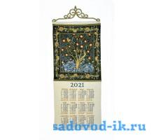 """Календарь из гобелена """"2021 Дятел У.Моррис"""" (33х70)"""