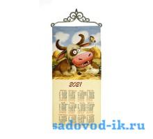 "Календарь из гобелена ""2021 Любит не любит"" (33х70)"
