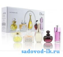 Подарочный набор духов Dior 5 ароматов в мини-флаконах по 5 мл.
