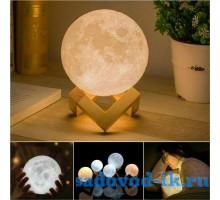 "3Д светильник-ночник ""Луна"""