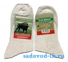 Мужские носки DMA Белорусский лён М11 белые (10 пар)