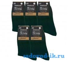 Мужские носки ВУ SkySocks CM-5 хлопок чёрные гладкие (10 пар)