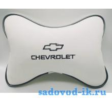 Подушка на подголовник Chevrolet (белая)