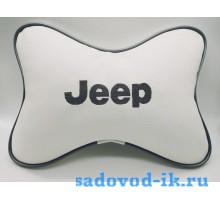 Подушка на подголовник Jeep (белая)