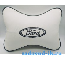 Подушка на подголовник Ford (белая)