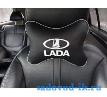 Подушка на подголовник Lada (черная)
