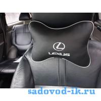 Подушка на подголовник Lexus (черная)