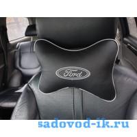 Подушка на подголовник Ford (черная)