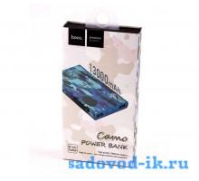 Внешний аккумулятор хаки Hoco B12C Camo Power Bank 13000 mah