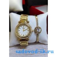 Подарочный набор Часы+браслет Диор цвет - золото