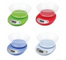 Электронные кухонные весы с чашей до 5кг